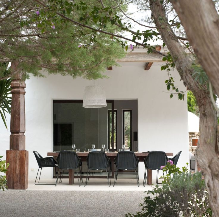 Modern Ibiza home by TG Studio - outdoor dining area