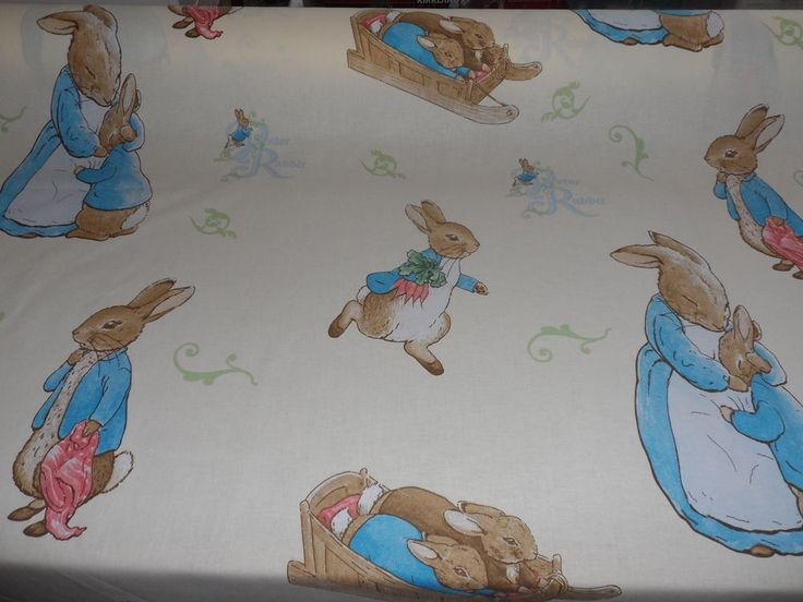 Beatrix Potter Peter Rabbit Fabric Material By The Metre