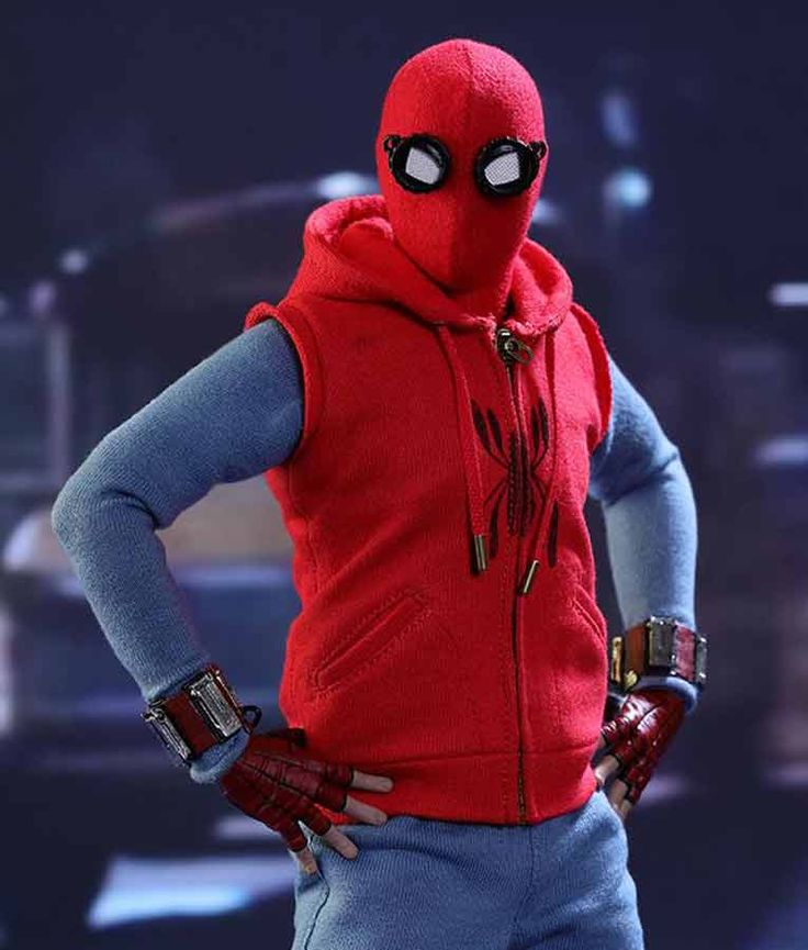 Upgrade your style with replacing your old Spiderman Costume and attiring this new Spiderman Homecoming Style. Peter Parker Red Sleeveless Hoodie.