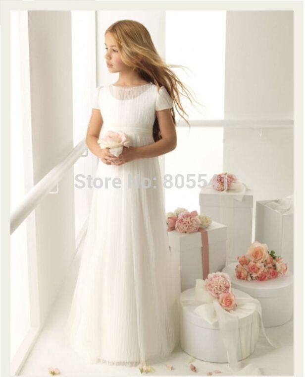 Дешевое Новый! Принцесса классическая рукавом Ruched симпатичная девушка платья FGD293, Купить Качество Платья для девочек с букетом непосредственно из китайских фирмах-поставщиках:             Мы являемся профессиональным свадебное платье завод, мы можем сделать любой дизайн свадебное платье и
