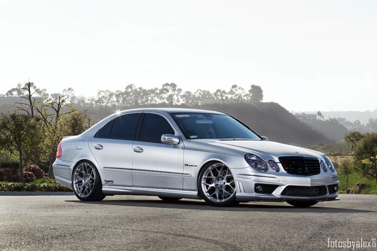 Mercedes Benz E55 AMG on exclusive HRE P40SC wheels