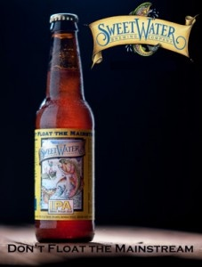 SweetWater IPA. This mammouth India Pale Ale is loaded with intense hop character and subjected to an extensive dry-hopping process. Our IPA is unfiltered and as always, not pasteurized, leaving all the natural flavors intact. The Beer You've Been Training For.