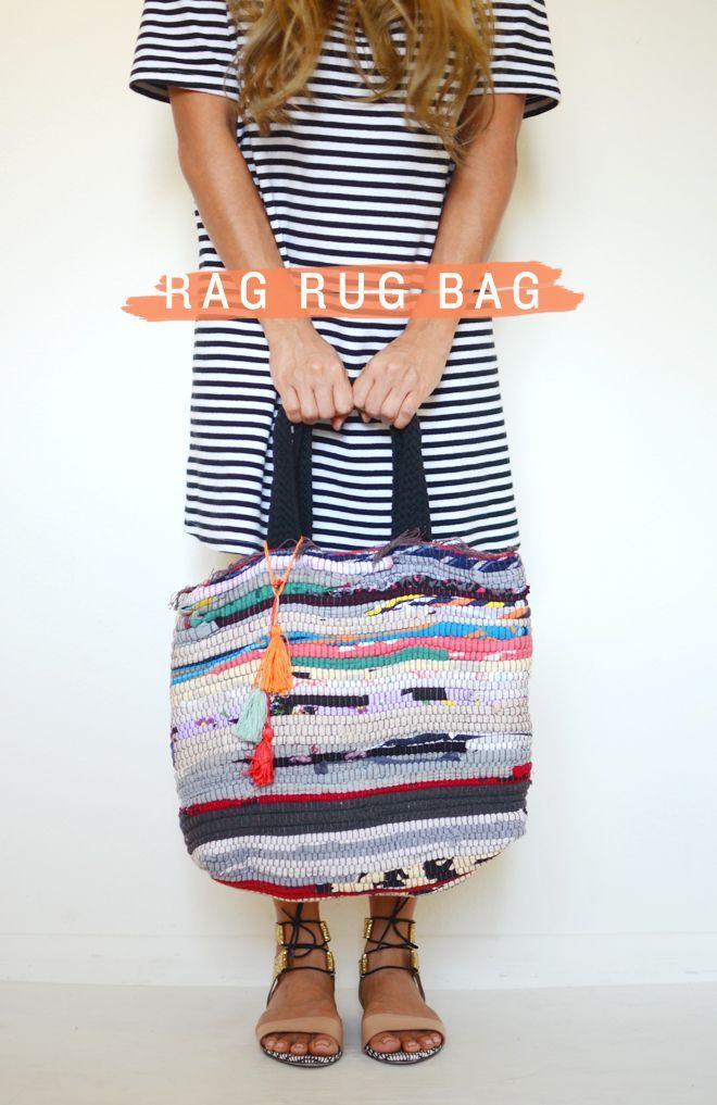 DIY Rag Rug Bag
