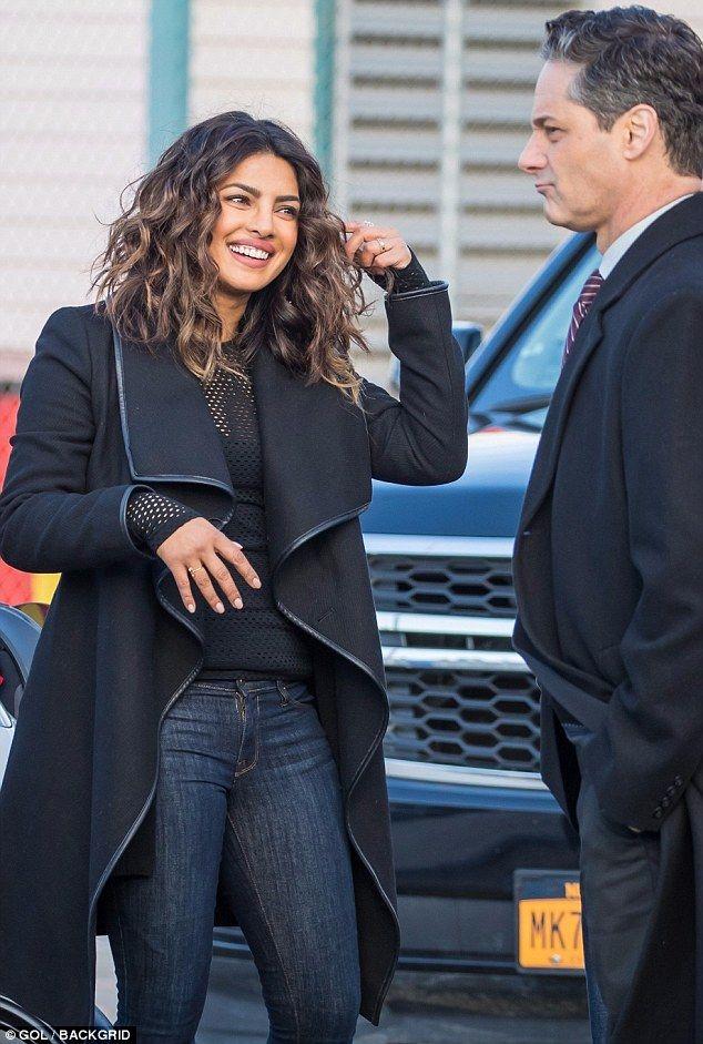 Priyanka Chopra Films Scenes For Quantico In New York Curly Locks