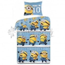 Lenjerie de pat din bumbac pentru copii Minions UDM033BL