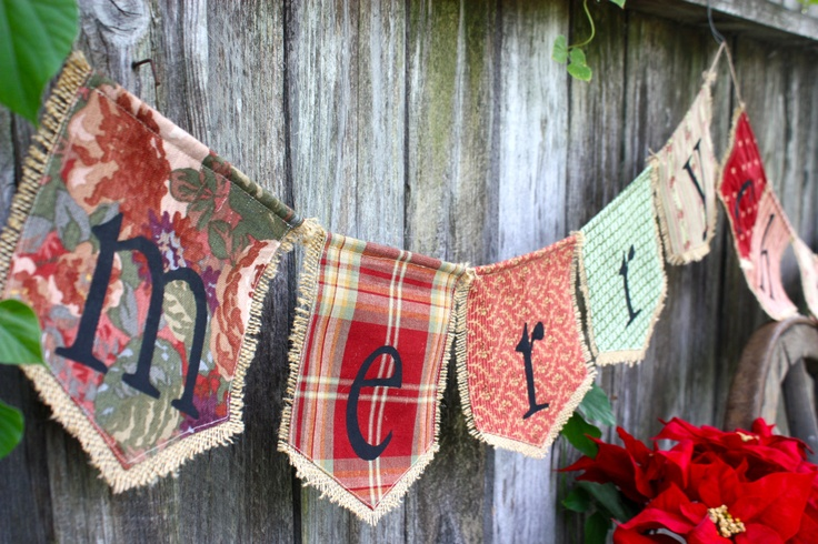 Custom MERRY CHRISTMAS bunting banner flag...Christmas, holidays, celebration, via Etsy.  www.etsy.com/shop/HaveABannerDay