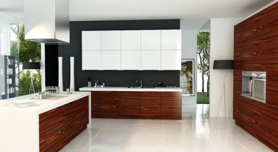 A palisander - white kitchen.