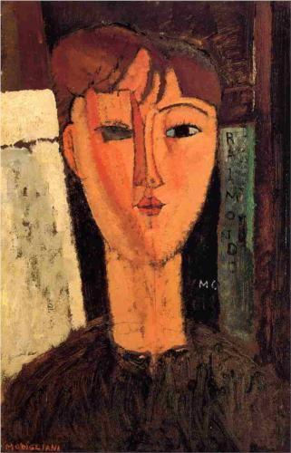 Amedeo Modigliani (1884 -1920) | Expressionism | Raimondo - 1915