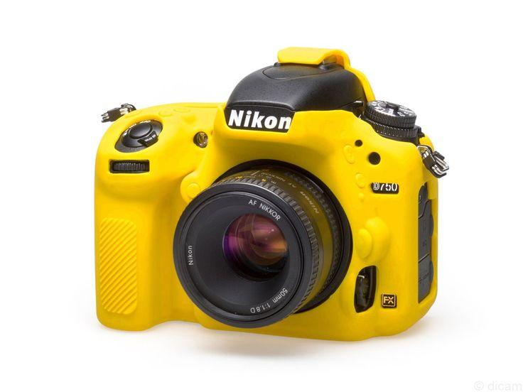 easyCover silikonowa osłona na body aparatu Nikon D750 - żółta | DICAM Sp. z o.o. Profesjonalny Sprzęt Fotograficzny