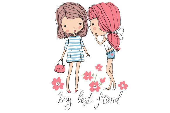 Check out cute girls by NatalyS on Creative Market