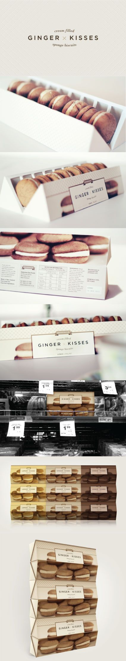 Ginger Kisses Packaging Re-design by Veronica Cordero