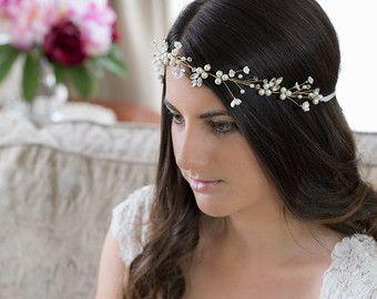 GEORGIA   Diadema de novia tocado de novia por Shellarndesign