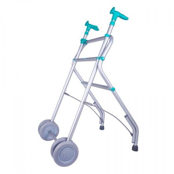 ANDADOR PLEGABLE - REF: AIR: El andador Air es plegable con lo que facilita su transporte y optimiza el espacio. Está fabricado en aluminio y termoplástico.