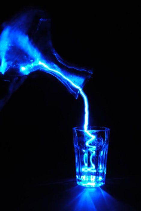 a glass of liquid cobalt