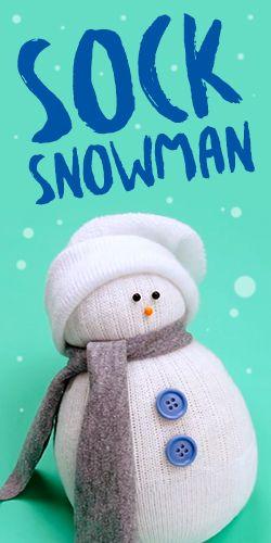 DIY No-Sew #Sock #Snowman #Decoration