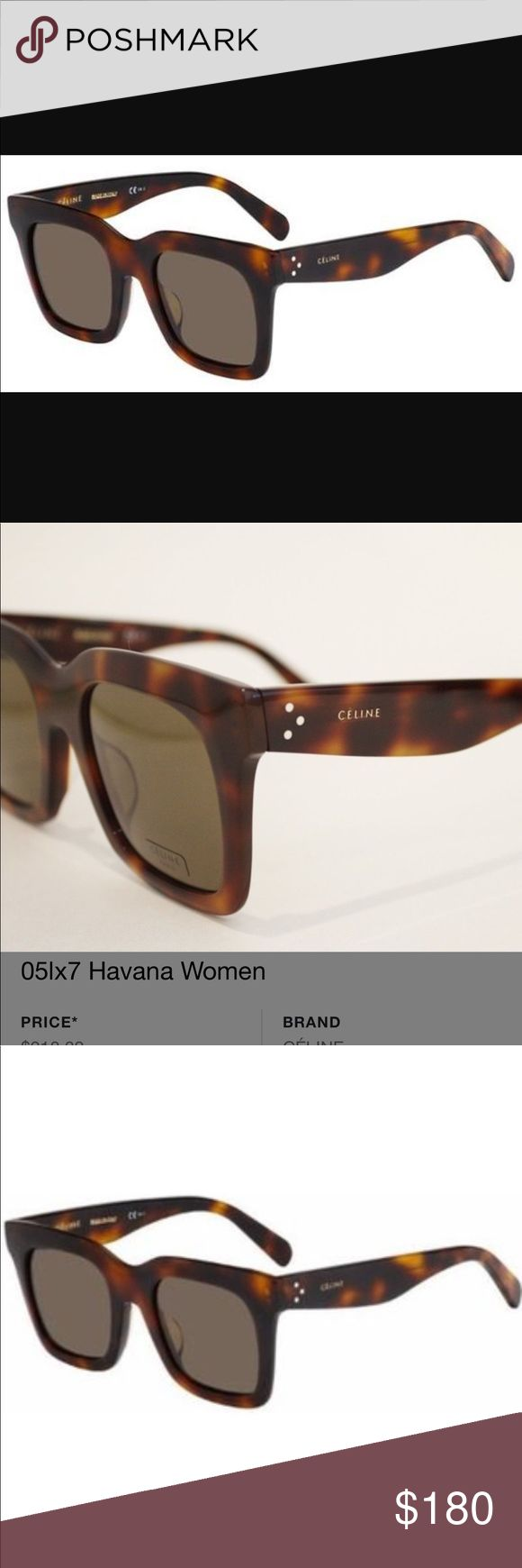 100% authentic Celine's Habana Brown Luca 🕶 20% off only for today ! Ask for your discount!!! Habana Brown asian fit Luca sunglasses Like new , used probably one time! Beautiful color, oversized ones !! Come with authenticity card and pouch and cleaning cloth!! Celine Accessories Sunglasses