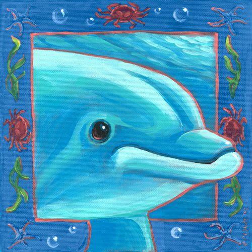 Underwater Dolphin by Oopsy daisy www.sweetretreatkids.com #sweetretreatkids #beachart #beachprint #oceanart #oceanprint #dolphinart #kidswallart #wallart #dolphinprint