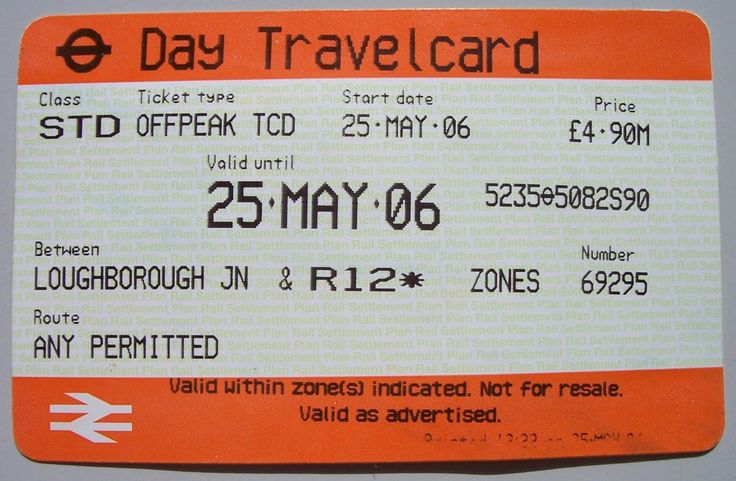 London Underground Travel Card