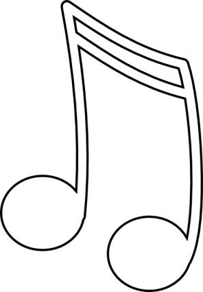 Best Musical Note Templates Images On   Music Music