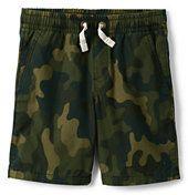 Lands' End Boys Husky Pull On Camo Shorts-Beetle Camo Print