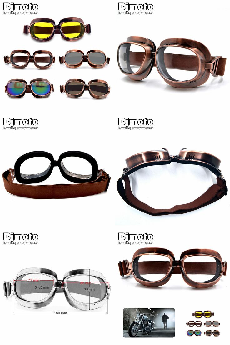 [Visit to Buy] High Quality Motorcycle Goggles Retro Flying Scooter Aviator Helmet Glasses Outdoor Sports Eyewea Vintage Motorbike Glasses #Advertisement