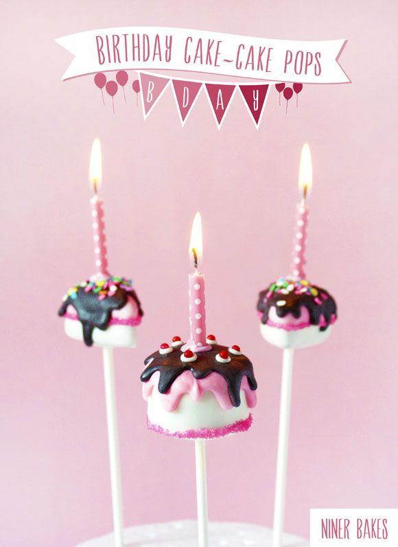 cute birthday cake pops