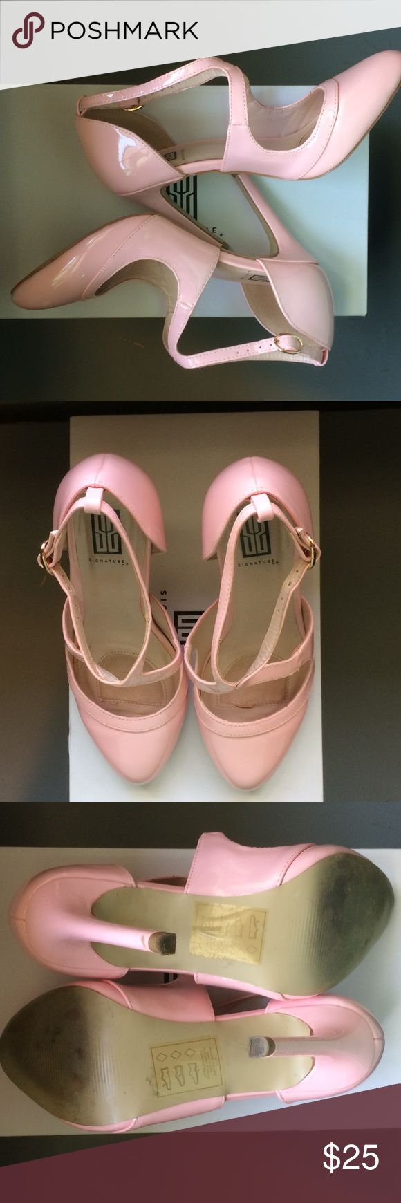 "🌸HOST PICK🌸 Shoe Dazzle - Light pink heels 🌸HOST PICK - Best In Shoes Party 7/26/17🌸                    Shoe Dazzle - Beautiful light pink heels with unique straps. Heel height 4 1/2"". Will accept reasonable offers. Shoe Dazzle Shoes Heels"