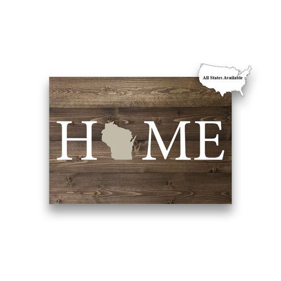 Custom HOME State Pallet Board Wisconsin by CNCCustomClassics