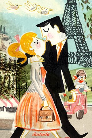 A kiss in Paris...(poolga.com)