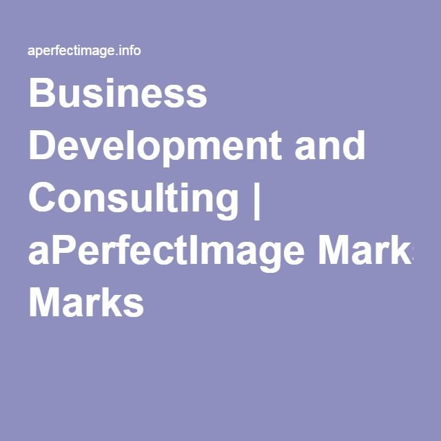 Business Development and Consulting | aPerfectImage Marks