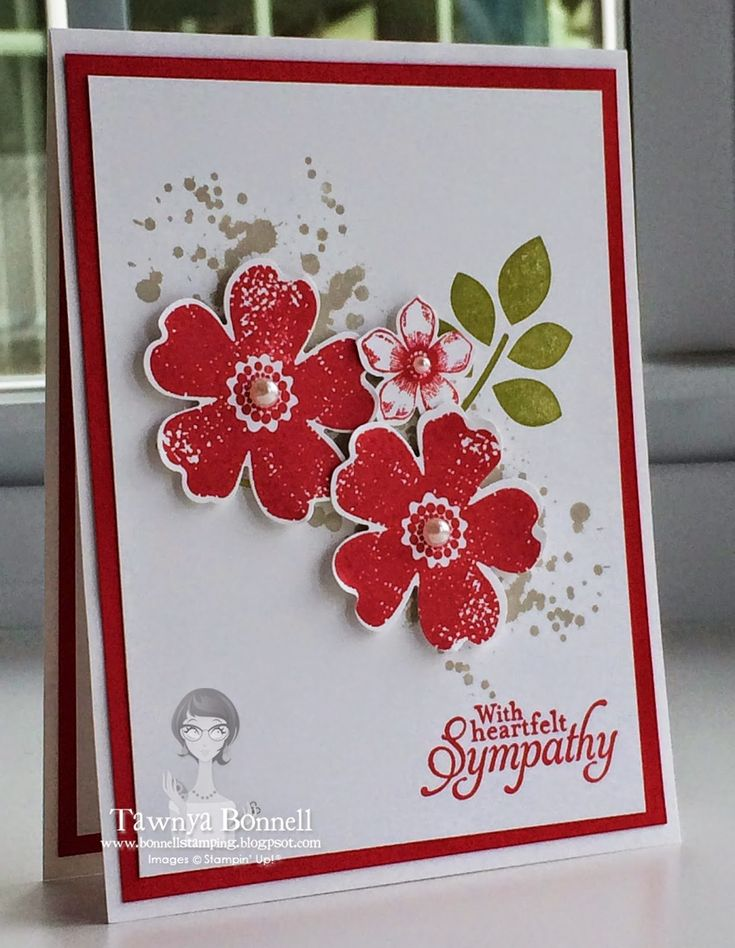 I added a little bit to this card. Stamp Sets: Flower Shop, Petite Petals, Betsy's Blossom, Gorgeous Grunge, Simply Sketched Car...