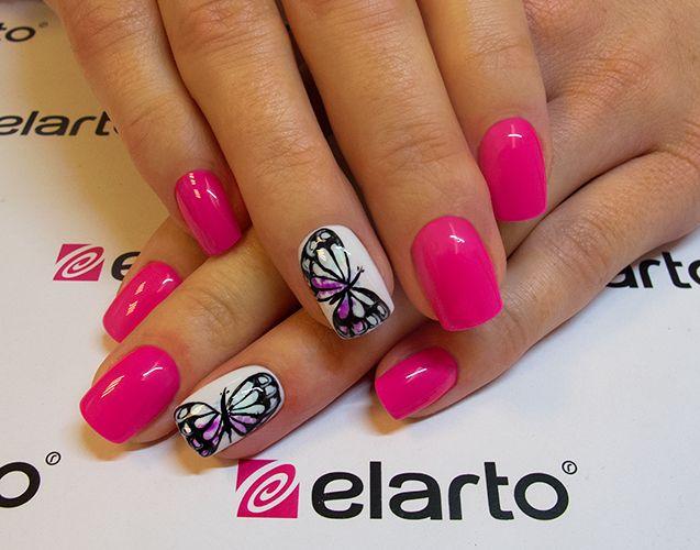 Created by: Lacogel 447: https://elarto.pl/lakierozel-kolorowy-z-brokatem/7151-elarto-lakier-hybrydowy-lakierozel-kolorowy-lacogel-hybrid-nail-color-nr-447-rozowy-ciemny-neon-15ml.html