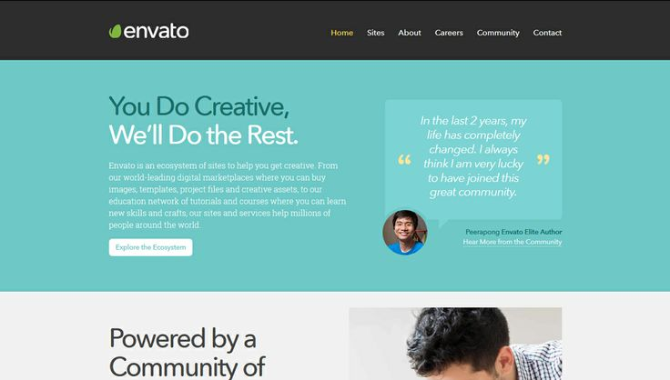An ecosystem of sites that fuel creativity http://www.envato.com/