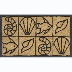 Creative Coir/ Rubber Door Mats (15 x 25) (Set of 2)