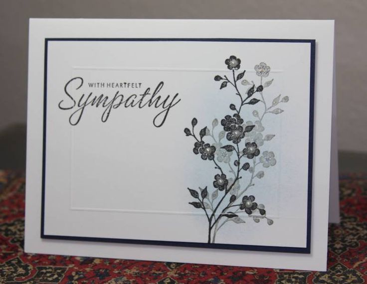 More Garden Silhouettes- Sympathy by CAKath - Cards and Paper Crafts at Splitcoaststampers