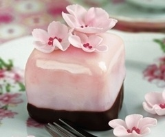 Petit fours: Tea Party, Petit Fours, Sweet, Cupcake, Food, Pink, Mini Cakes, Cherry Blossoms, Dessert