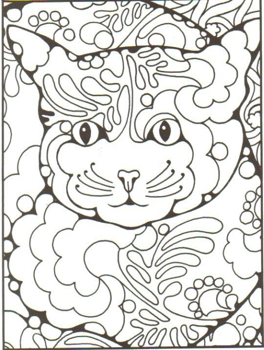 This first piece was from a pattern coloring book.  The first image is the untouched page.