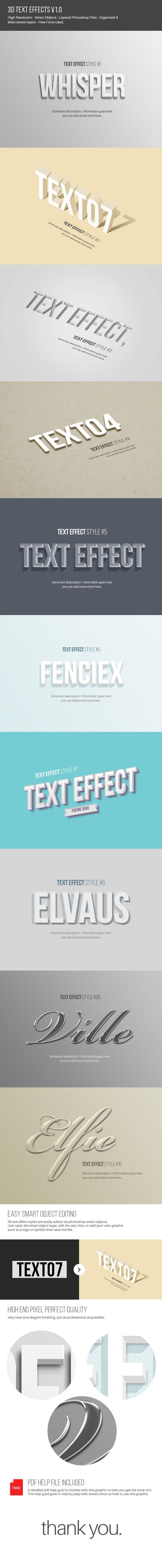10 Text Effects for Photoshop. Download here: http://graphicriver.net/item/text-effects-v10/10530426?ref=ksioks