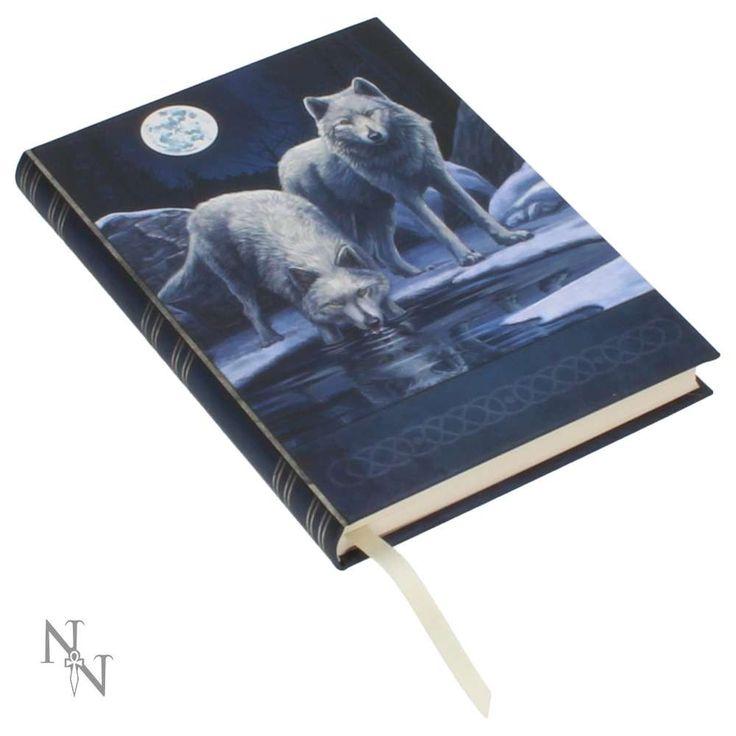 Nemesis Now Warriors of Winter - Witte wolven met maan notitieboek bla