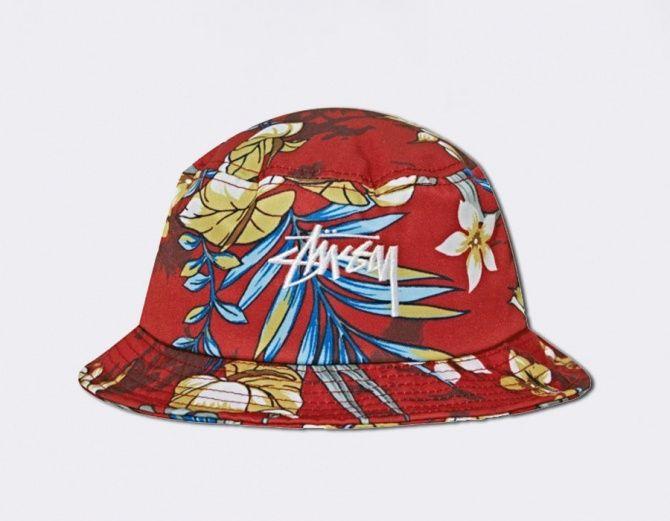 #Stussy - Bucket Hat Paradise - Red