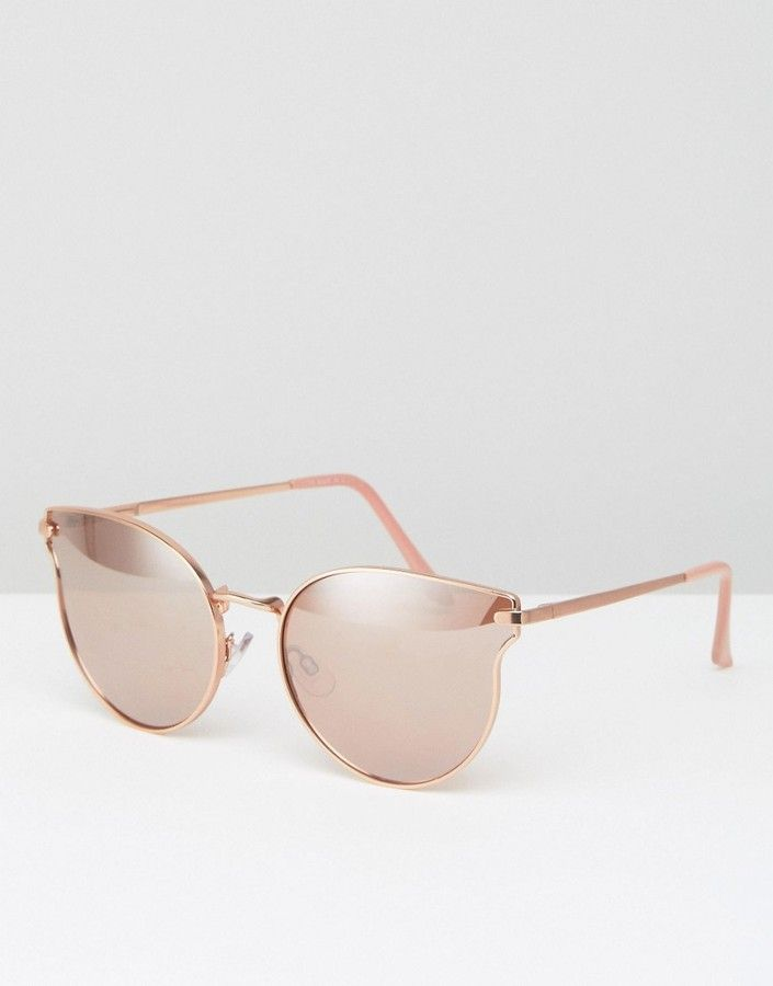 ALDO Cat Eye Sunglasses in Rose Gold