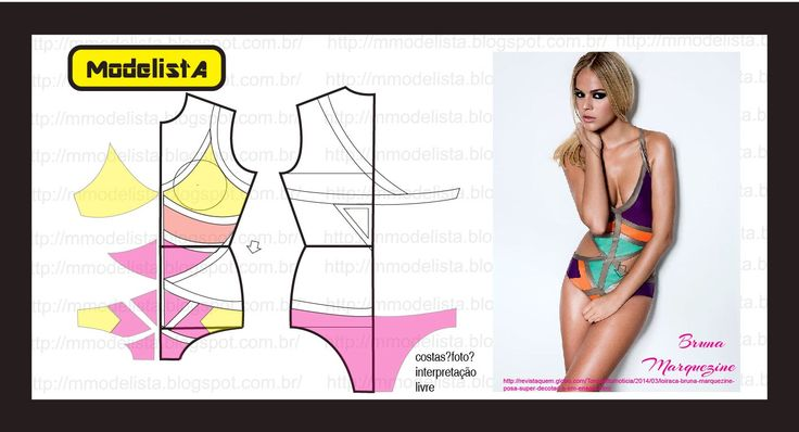 Pattern for swimsuit