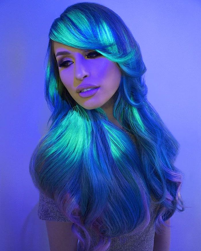 People Are Loving This New Glow-In-The-Dark Hair Trend