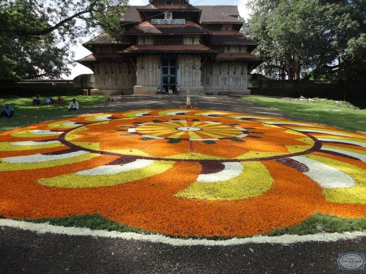 Pookalam on the Thrissur Vadakkunathan South Nada