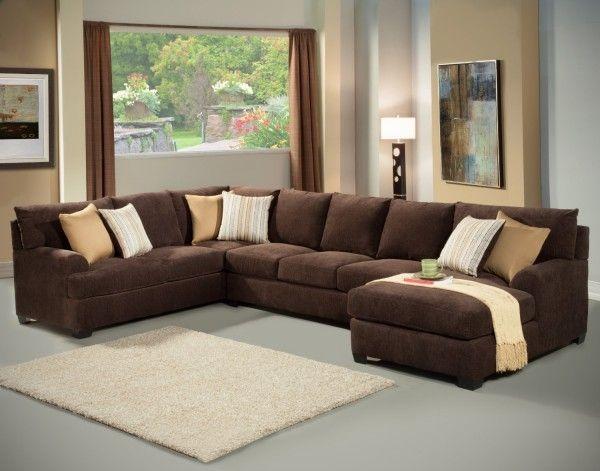 Microfiber Sectional Sleeper Sofa With