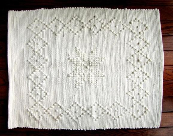 Portuguese Cotton Hand Knotted Mat: Remodelista