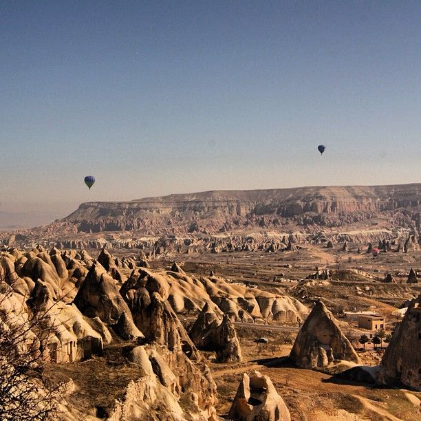 Photo from the Instacanvas gallery of jotheorin. Air balloons on a landscape in Goreme - Cappadocia