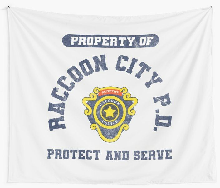 Raccoon City Police Department Resident Evil 2 Tapestry With Images Video Game T Shirts Police Department Resident Evil