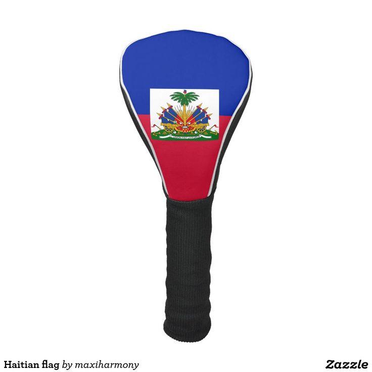 Haitian flag golf head cover