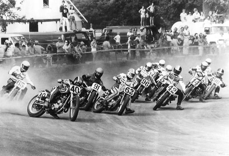 1979 Flat Track Race at Plain City, OH. Photo by Bert Shepard